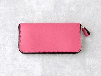 《Raffine》◇ラウンドファスナー長財布◇ピンク◇の画像