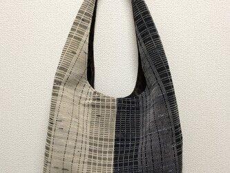 裂き織り ショルダーバッグ ワンハンドル(バイカラー)の画像