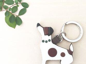 犬のキーリング(レザーのみ)緑の画像
