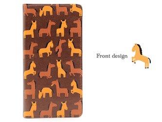 馬のかわいいしぐさ 帯なし手帳型スマホケース ブランド/リトルアニマル キャラクター/グッズ 携帯 IPHONの画像
