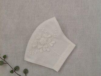 ピュアコットン 3D 花刺繍のマスク   * 送料無料 *の画像
