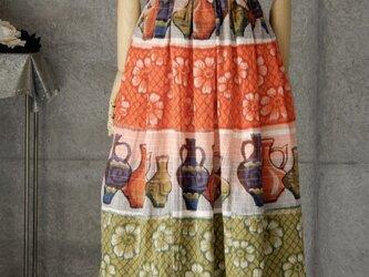 着物リメイク お家ロングスカート/布団地/フリーサイズの画像