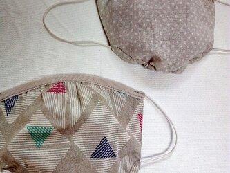 綿麻ギャザーフィットマスク の画像