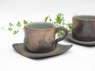 焼き締めカップ&ソーサーの画像