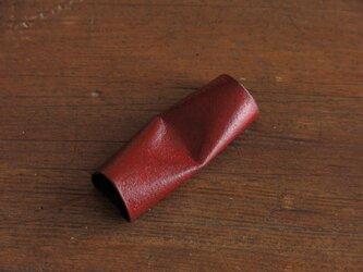 和紙と漆の箸置き 赤漆の画像