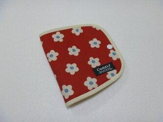 140.ルシアン お花柄 立体マスク用 仮置きマスクケース 赤 再販の画像