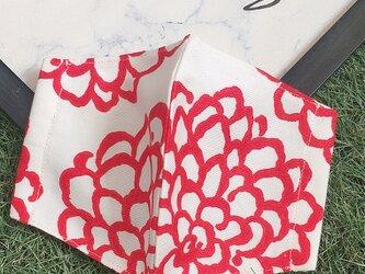 夏向け 立体マスク  キッズ オトナ ダリア 花 フラワーの画像