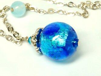 【蓄光】ホタル玉1粒ネックレス*ブルーの画像