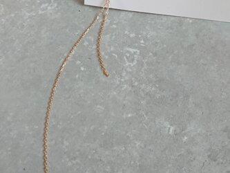 K18ハート ロングチェーン 片耳ピアスの画像