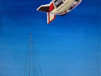 飛行船とヨットの画像
