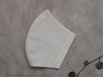 薄地のコットン 刺繍マスク   * 送料無料 *の画像
