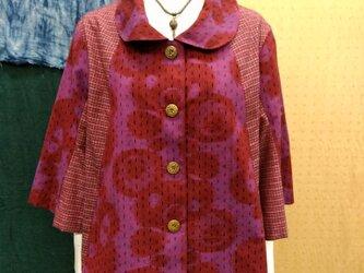 久留米絣 ジャケットの画像