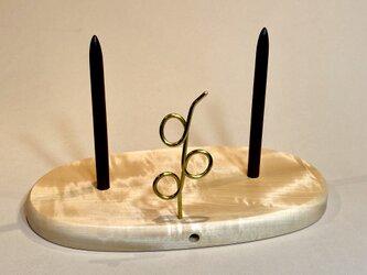 ヤーンホルダー トチの木 白木仕上げ 1の画像
