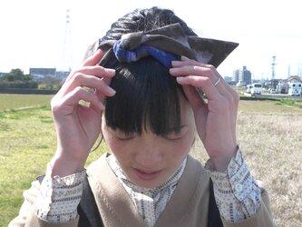 ☆SALE☆久留米絣のリボンターバンの画像