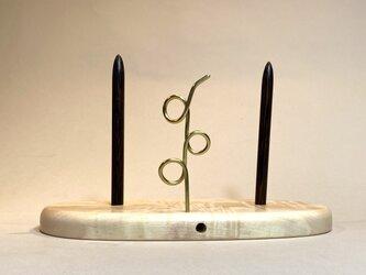 ヤーンホルダー トチの木 白木仕上げ 7の画像
