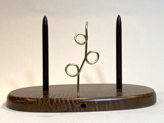 ヤーンホルダー トチの木 茶色仕上げ 3の画像
