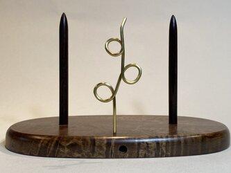 ヤーンホルダー トチの木 茶色仕上げ 6の画像