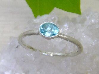 ブルーアパタイト*925 ringの画像