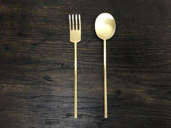 【受注生産】真鍮のスッカラS・ポクS セットの画像