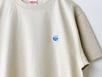 ドライヴィンテージTシャツ【アッシュベージュ】 WED  HYM 刺繍ワッペンの画像