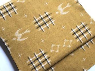 燕、井桁絣の結城紬の名古屋帯 の画像