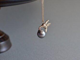 1点もの K10ネックレス ハチドリの画像