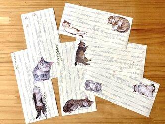 一筆便箋「寝る猫シリーズ」の画像