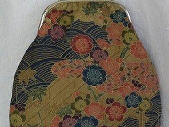 梅花、紅葉のがま口ショルダーバッグの画像