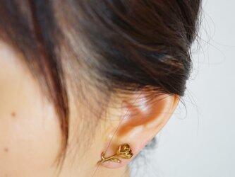 イヤークリップ 花かんざし 真ちゅう(片耳用)の画像