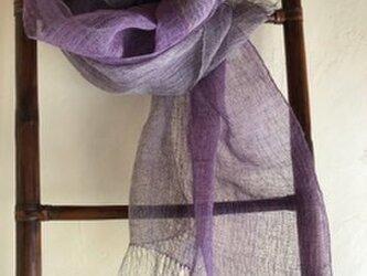 手織りヘンプショールSの画像