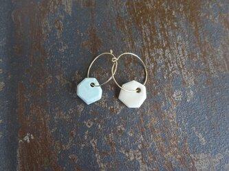 色合わせの釉薬pierce(白+そよ風ブルー)の画像