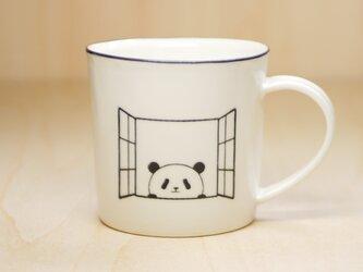 パンダマグカップ(扉&窓)の画像