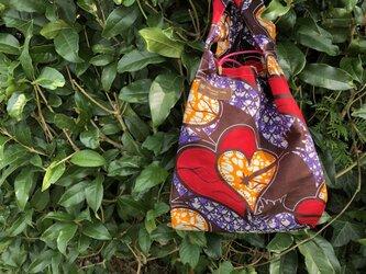 オーダー品 アフリカ布エコバッグ(小)の画像