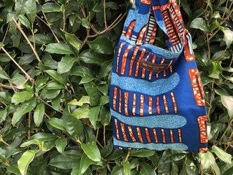 アフリカ布 エコバッグ(小)の画像