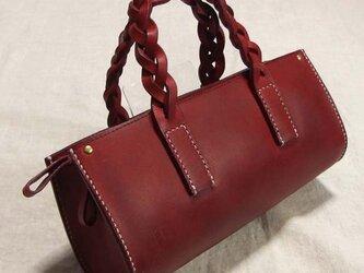 小さな手縫いバッグ 赤の画像