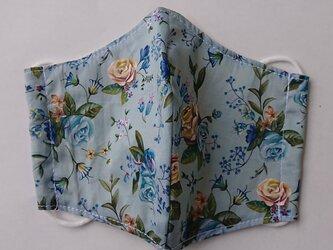 マスク リバティ大人用Mサイズ ブルー薔薇の画像