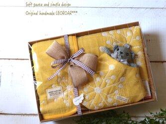 fuwafuwaガーゼのギフトセット*yellowの画像