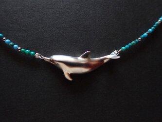 【受注制作】旅するイルカ(ネックレス)の画像