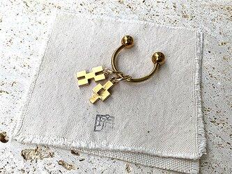 真鍮ミンサー柄曲金具鍵束 rz-31の画像