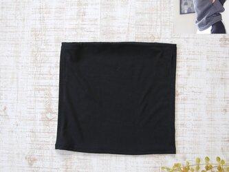 バフ風フェイスカバー*黒 無地 ウォーキングやランニング用のフェイスガード・フェイスマスク 日焼け防止の画像