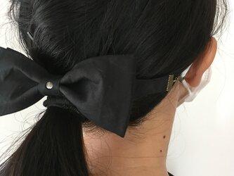 マスクリボンフック 耳が痛くならない クリップ付き コットンパール付きの画像