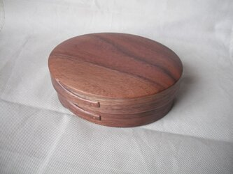 ウォルナットの曲木のお弁当箱(中)の画像