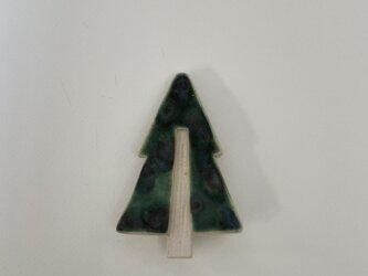 壁掛け陶板 「小さなツリー②」の画像