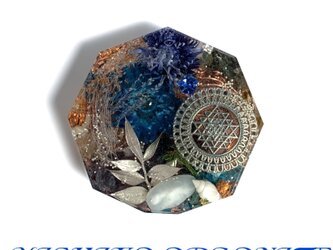 豊かな富をもたらすシュリヤントラ 金運アップ 才能・個性開花 ケオン 幸運メモリーオイル コースター型オルゴの画像