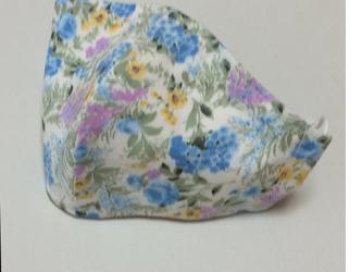 シルクマスク~花模様(ブルー系)の画像