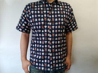 半袖和柄シャツ(能面図)の画像