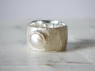 simple wide pinky ring(sv*baroque pearl)★シンプル★ワイド★シルバー★ピンキー★の画像