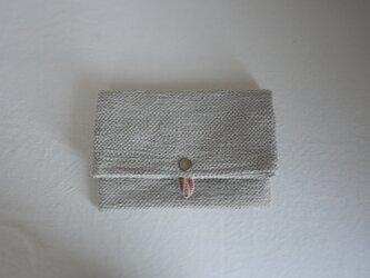 裂き織りのフリーポーチ A5  サンドベージュの画像