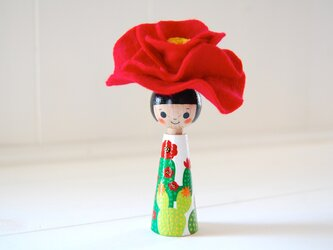 *あなたの為に咲く花*指人形・hand puppet[68]の画像