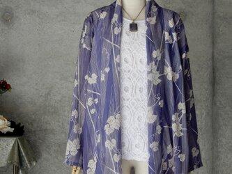 着物リメイク 絽の羽織りジャケット/フリーサイズの画像